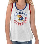 G-III For Her Women's Kansas Jayhawks Reverse Standing White Tank Top