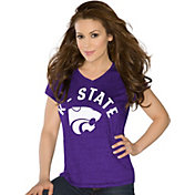 Touch by Alyssa Milano Women's Kansas State Wildcats Purple Sparkle V-Neck T-Shirt
