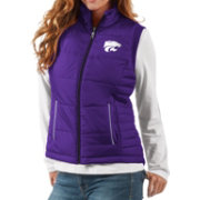 G-III For Her Women's Kansas State Wildcats Purple First Down Polyfill Vest