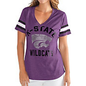 G-III For Her Women's Kansas State Wildcats Purple Wildcard V-Neck T-Shirt