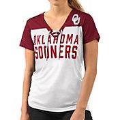 G-III For Her Women's Oklahoma Sooners Shake Down White V-Neck Top