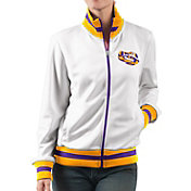 G-III For Her Women's LSU Tigers Field Goal White Track Jacket