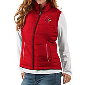 G-III For Her Women's Louisville Cardinals Cardinal Red First Down Polyfill Vest