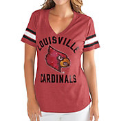 G-III For Her Women's Louisville Cardinals Cardinal Red Wildcard V-Neck T-Shirt