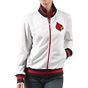 G-III For Her Women's Louisville Cardinals Field Goal White Track Jacket
