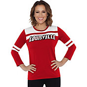 Touch by Alyssa Milano Women's Louisville Cardinals White/Cardinal Red Offside 3/4 Sleeve Shirt
