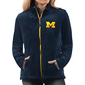 G-III For Her Women's Michigan Wolverines Blue Goal Line Full-Zip Jacket