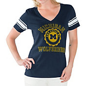G-III For Her Women's Michigan Wolverines Blue First Pick V-Neck T-Shirt
