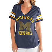 G-III For Her Women's Michigan Wolverines Blue Wildcard V-Neck T-Shirt