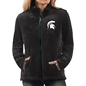 G-III For Her Women's Michigan State Spartans Goal Line Black Full-Zip Jacket