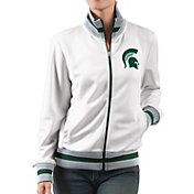 G-III For Her Women's Michigan State Spartans Field Goal White Track Jacket