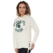 Touch by Alyssa Milano Women's Michigan State Spartans Weekend Raglan White Pullover Hoodie