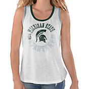 G-III For Her Women's Michigan State Spartans Reverse Standing White Tank Top