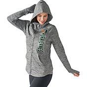 G-III For Her Women's Miami Hurricanes Grey Defender Full-Zip Hoodie