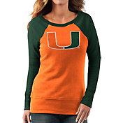 G-III For Her Women's Miami Hurricanes Orange/Green Top Ranking Tunic
