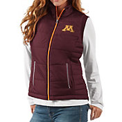 G-III For Her Women's Minnesota Golden Gophers Maroon First Down Polyfill Vest