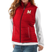G-III For Her Women's Maryland Terrapins Red First Down Polyfill Vest