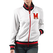 G-III For Her Women's Maryland Terrapins Field Goal White Track Jacket