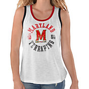 G-III For Her Women's Maryland Terrapins Reverse Standing White Tank Top