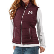 G-III For Her Women's Mississippi State Bulldogs Maroon First Down Polyfill Vest