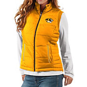 G-III For Her Women's Missouri Tigers Gold First Down Polyfill Vest