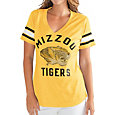 G-III For Her Women's Missouri Tigers Gold Wildcard V-Neck T-Shirt