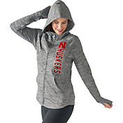G-III For Her Women's Nebraska Cornhuskers Grey Defender Full-Zip Hoodie