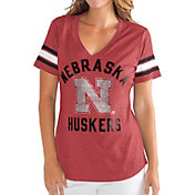 G-III For Her Women's Nebraska Cornhuskers Scarlet Wildcard V-Neck T-Shirt