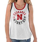 G-III For Her Women's Nebraska Cornhuskers Reverse Standing White Tank Top