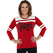 Touch by Alyssa Milano Women's Nebraska Cornhuskers White/Scarlet Offside 3/4 Sleeve Shirt