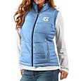 G-III For Her Women's North Carolina Tar Heels Carolina Blue First Down Polyfill Vest