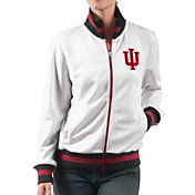 G-III For Her Women's Indiana Hoosiers Field Goal White Track Jacket