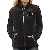 G-III For Her Women's Purdue Boilermakers Goal Line Black Full-Zip Jacket