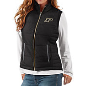 G-III For Her Women's Purdue Boilermakers Black First Down Polyfill Vest