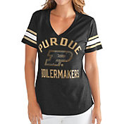 G-III For Her Women's Purdue Boilermakers Wildcard Black V-Neck T-Shirt