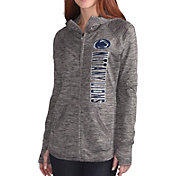 G-III For Her Women's Penn State Nittany Lions Grey Defender Full-Zip Hoodie