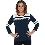 Touch by Alyssa Milano Women's Penn State Nittany Lions White/Blue Offside 3/4 Sleeve Shirt