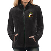 G-III For Her Women's Oregon Ducks Goal Line Black Full-Zip Jacket