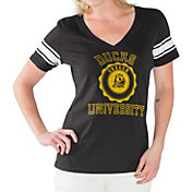 G-III For Her Women's Oregon Ducks First Pick Black V-Neck T-Shirt