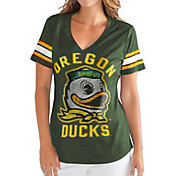 G-III For Her Women's Oregon Ducks Green Wildcard V-Neck T-Shirt