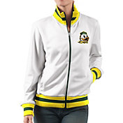 G-III For Her Women's Oregon Ducks Field Goal White Track Jacket