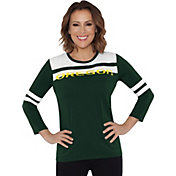 Touch by Alyssa Milano Women's Oregon Ducks White/Green Offside 3/4 Sleeve Shirt