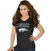 G-III For Her Women's Arkansas Razorbacks Alumni Black V-Neck T-Shirt