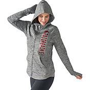 G-III For Her Women's Arkansas Razorbacks Grey Defender Full-Zip Hoodie
