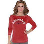 Touch by Alyssa Milano Women's Arkansas Razorbacks Cardinal 3/4 Sleeve Shirt