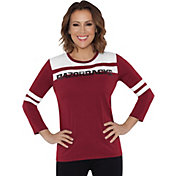 Touch by Alyssa Milano Women's Arkansas Razorbacks White/Cardinal Offside 3/4 Sleeve Shirt
