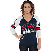 Touch by Alyssa Milano Women's Arizona Wildcats Navy Reflex Raglan 3/4 Sleeve Shirt