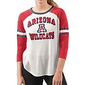 G-III For Her Women's Arizona Wildcats White/Cardinal Backfield Raglan 3/4 Sleeve Shirt