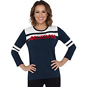 Touch by Alyssa Milano Women's Arizona Wildcats White/Navy Offside 3/4 Sleeve Shirt
