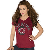 Touch by Alyssa Milano Women's South Carolina Gamecocks Garnet Sparkle V-Neck T-Shirt